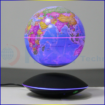 2017 new map globe HCNT levitating 6 inch globe twinkled ball