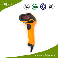 Cheap Price Handheld Wired USB Bar Codes Scanner 1D Supermarket Pos Scan Gun with 650 nm laser (visible light)