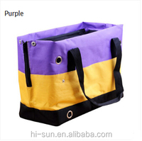 High quanlity nylon ventilate mesh cloth with zipper handbag tote cat dog bag pet bag