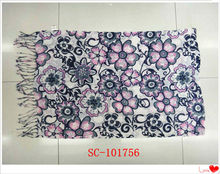 flora printed 100 cotton scarfs fashion style 2011-2012
