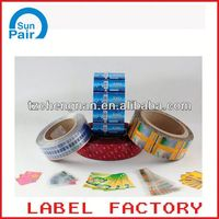 printed self adhesive satin label for bottle packaging