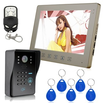 10 inch color video door phone Intercom Door bell Home Security Camera Monitor