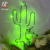 Christmas Decoration 2017 Wholesale Led Lighted Wall Decor Art Metal Cactus Sculpture