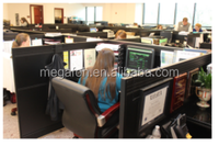 Financial company products telemarketing cubicle workstation(FOH-JT03)