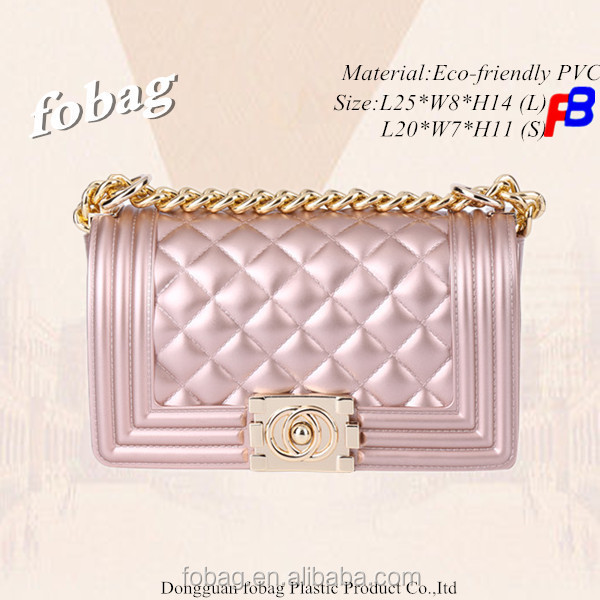 Nice PVC Jelly Bag Fashion Shoulde Bag for Girls with Golden Hardware