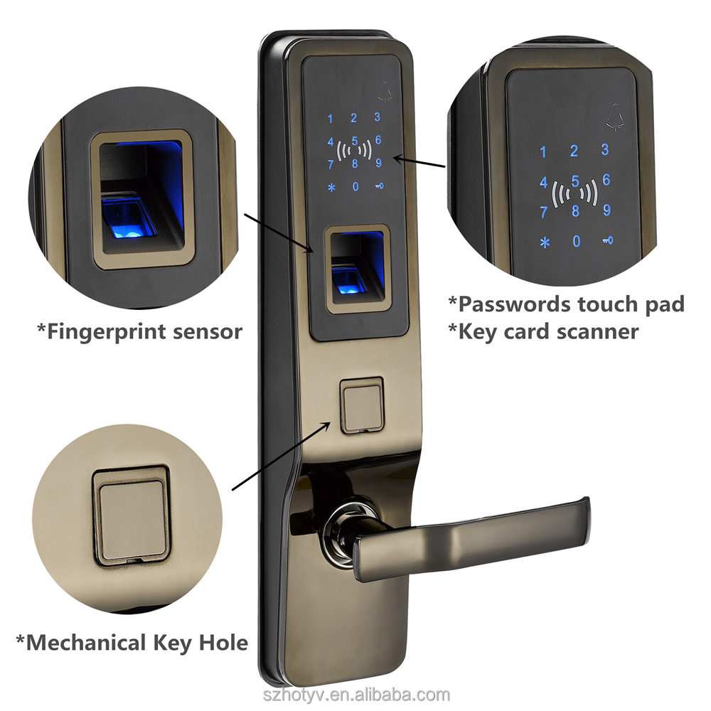 Biometric combination lock biometric fingerprint metal for 1 touch door lock