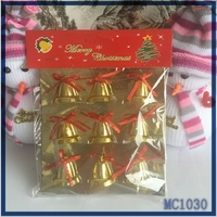 Wholesale factory direct 2015 christmas tree decorations high quality christmas tree decorations plastic gold christmas bell