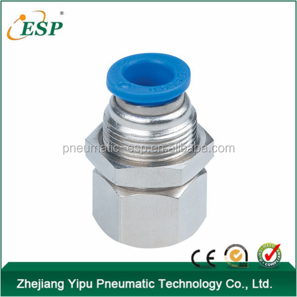 pneumatic fittings bulkhead femail straight fittings one -touch tube fittings PMF
