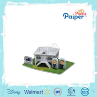 3d puzzle toy diy adult paper house model