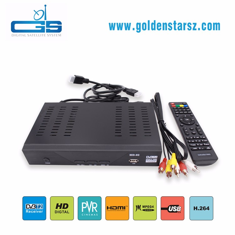 High quality common interface dvb-t2 vga box wifi dvb-t2 support FTA and loop out