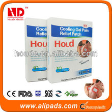 New gel product cooling pain relief patch for joint pain