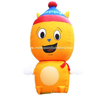 Big inflatable yellow happy cartoon character for advertising