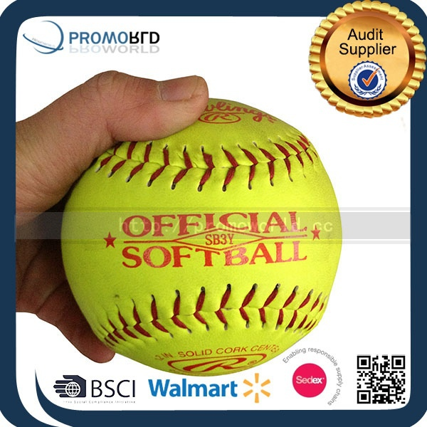 Offical softball PVC leather softball promotion soft ball