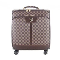 HOT 2015 New Business PU Leather 17' travel laptop trolley luggage bag