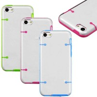 For iPhone 5C Luminous Glow in the Dark Silicone Gel PC Box Case Cover