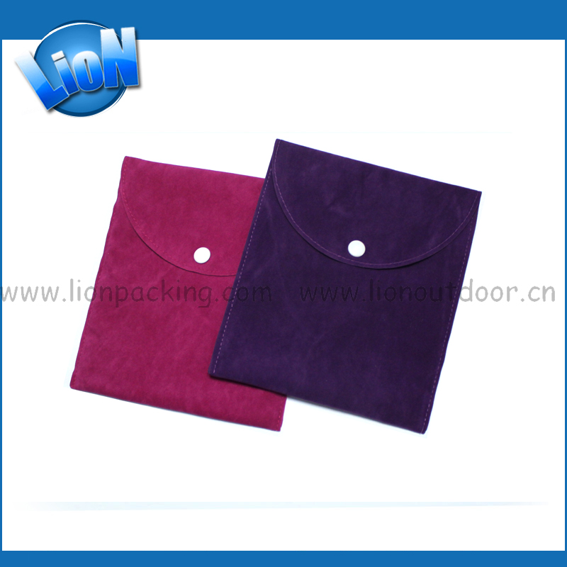 Great Logo wine purple suede bag