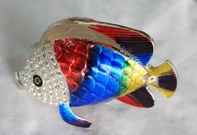 Popular Tropical Colorful Fish Trinket Jewelry Box
