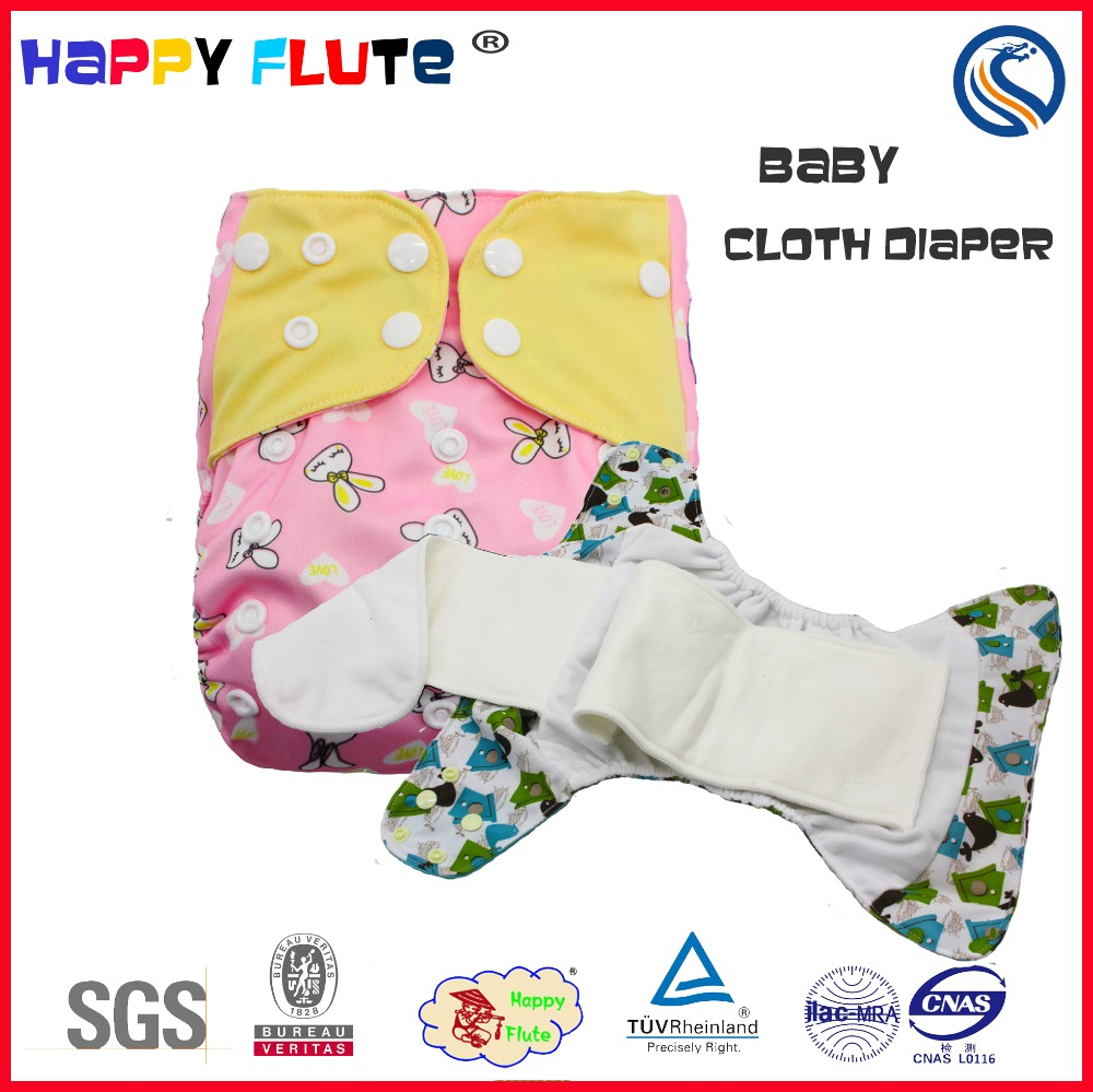 Happy flute reusable AIO baby cloth diaper pocket diaper in bulk factory china