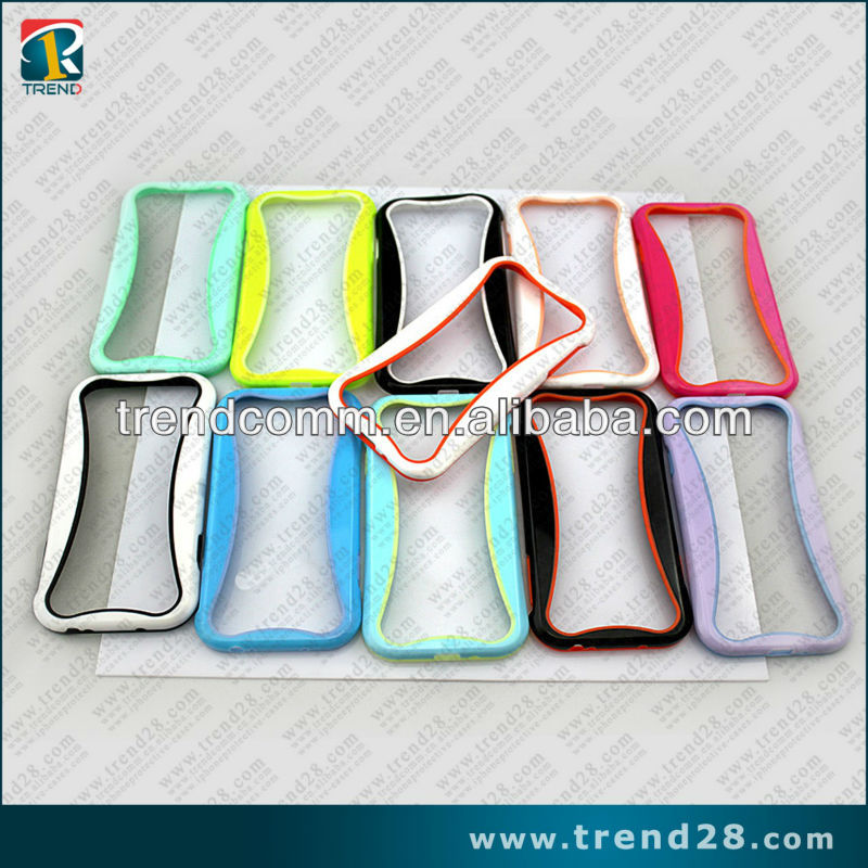 fluorescent and curve tpu&pc bumper for samsung galaxy s4