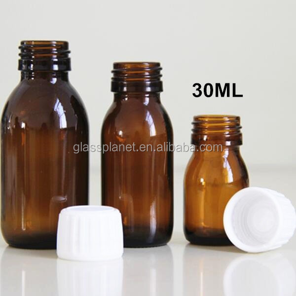 30 ml 1 oz Amber Glass Bottle - for Essential Oils, Extracts & Other Liquids