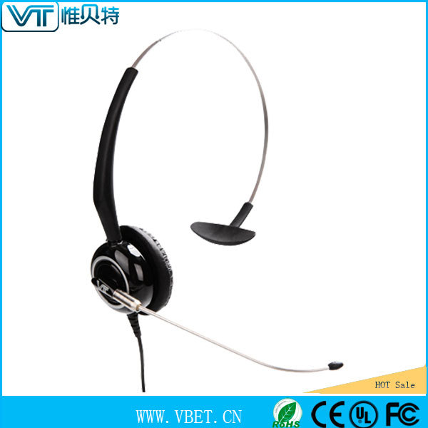 dect cordless phone call center headset solution with transparent voice tube
