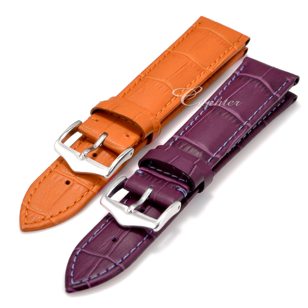 Fashionable genuine leather lady's wrist watch strap