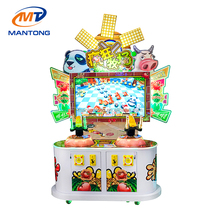 Mantong CE 2 players arcade game machine kids pusher coin operated prize redemption machine