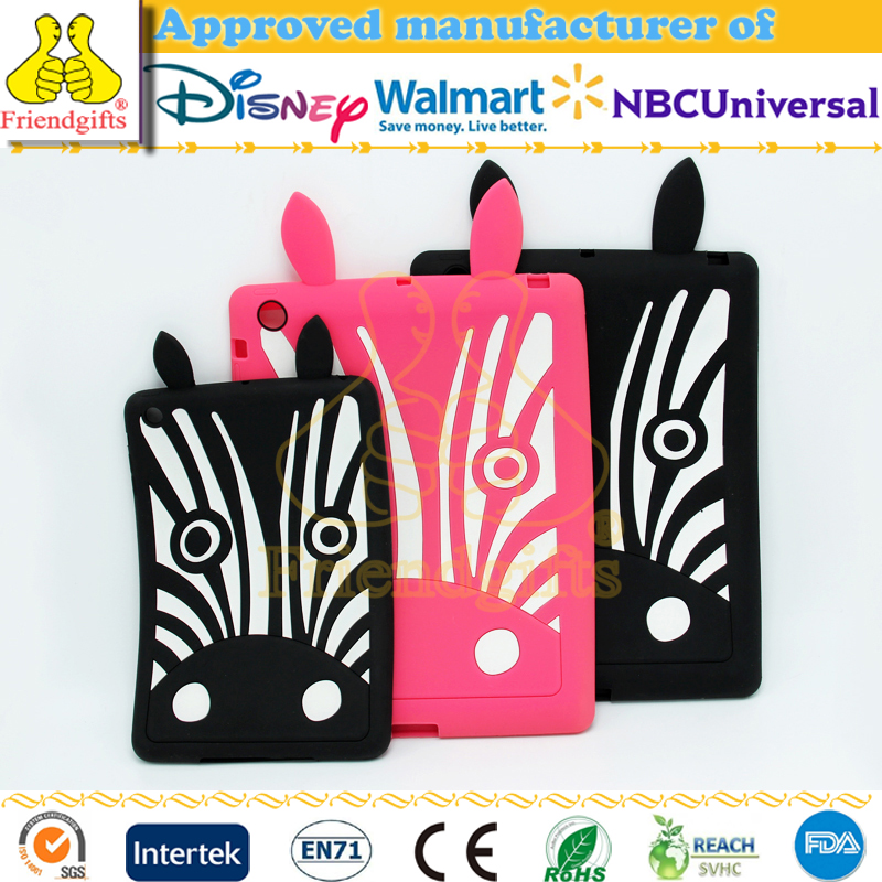 New arrive silicone tablet case for ipad mini cute animal shaped silicone case