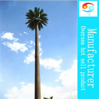 2013 artificial foxtail palm tree steel communication tower Date for palm artificial fake plants large tower China Manufactures