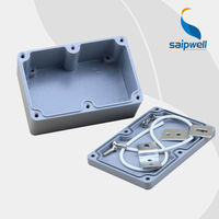 SAIP/SAIPWELL New Product 120*80*55mm Solid Cover IP66 Electrical Box Waterproof Aluminium Case