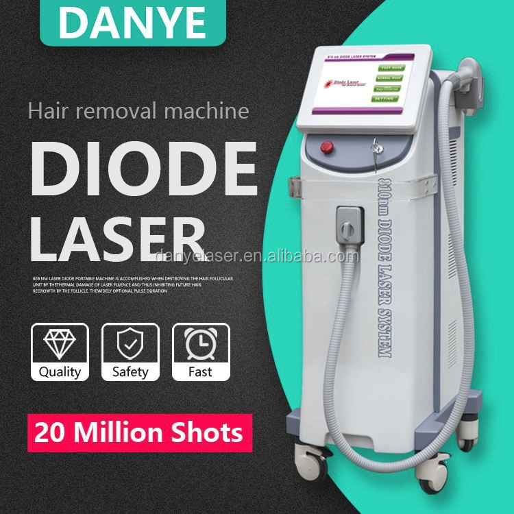 Beauty clinic equipment 808nm diode laser hair removal machine with 20 million shots warranty