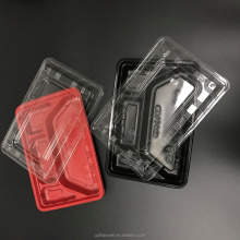 Custom disposable plastic microwave takeaway food packaging containers
