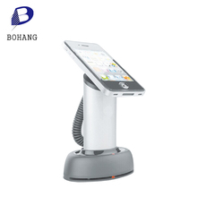 Retail mobile phone anti-theft security alarm display stand device