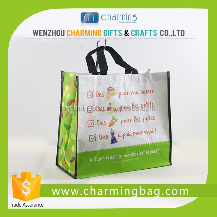 China eco friendly plastic women large grocery bag