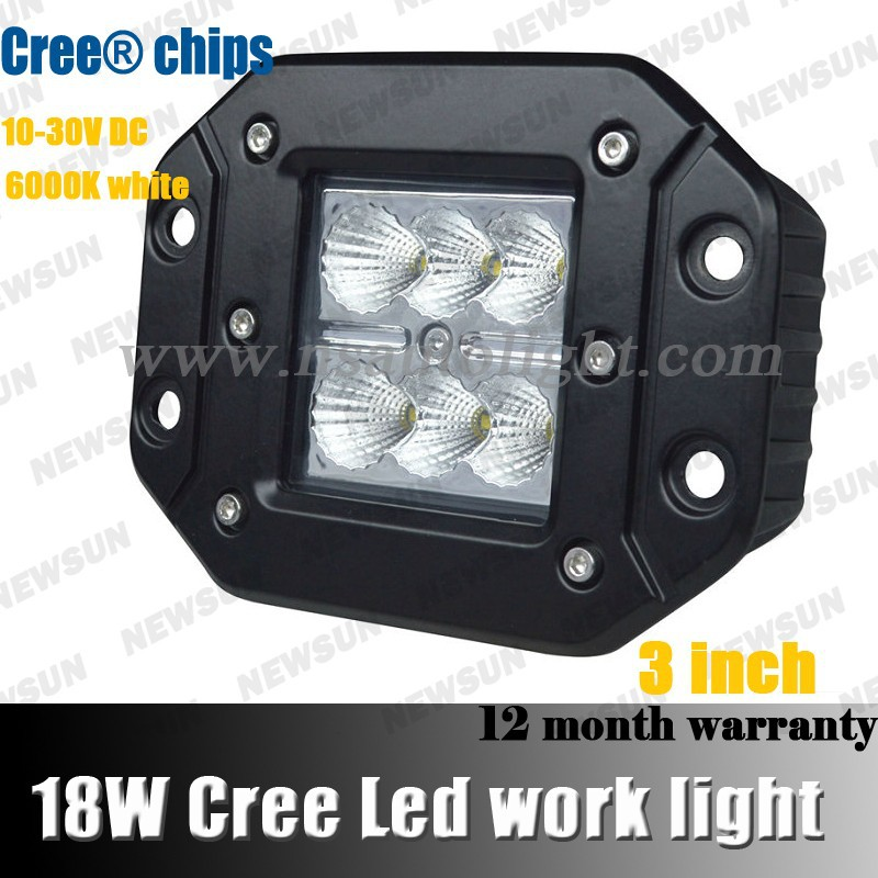 18W C REE LED Work Light Off Road Lights Fog Driving Lamp Spot <strong>Beam</strong> 8 degree For Truck SUV Boat 4X4 4WD ATV UTE Hot Sale!!!!