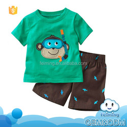 Wholesale children's boutique clothing factory monkey 2016 good quality fashion boys kids fancy baby clothing sets