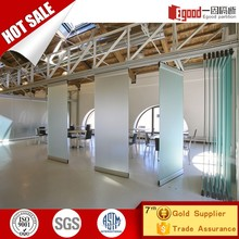 Movable tempered glass separation wall glass partition wall living room