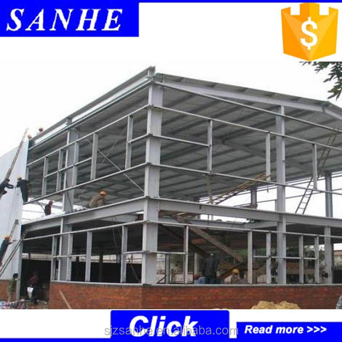 prefabricated steel structure building / used industrial shed for sale