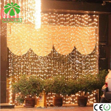 Colorful Ucharge Led Light Curtain Icicle Lights 300led 9.8feet 8modes Linkable Warm White Christmas Curtain String