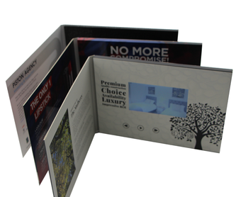 7 inch lcd video booklet video business leaflet hot selling