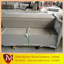 Customized design G682 flamed granite stairs