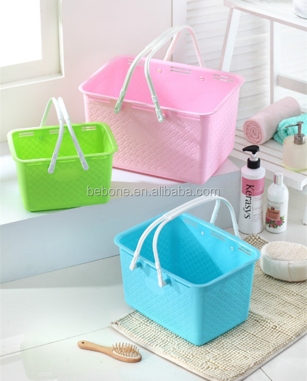 2014 New colorful plastic storage box wholesale with handle