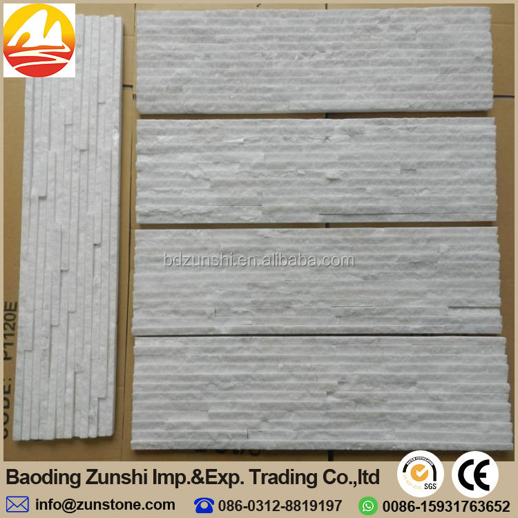 Natural White Quartz Waterfall Stone,Cultural Stone For House