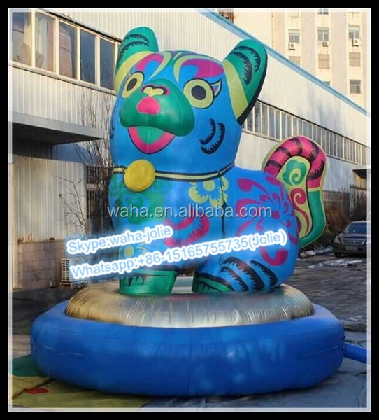 Year of dog Chinese zodiac inflatable dog model balloon 4M