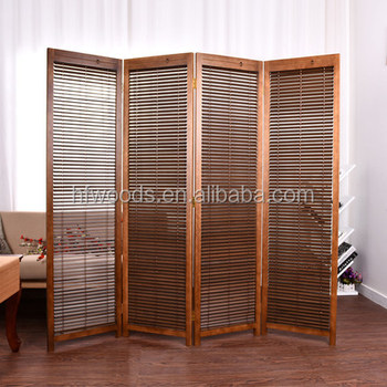 Modern Popular Japanese Style Wooden Folding Screen Room Divider