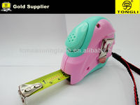 Pink&Green wear-resistant cheap measuring tape