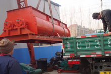Horizontal concrete Double Paddle Mixer