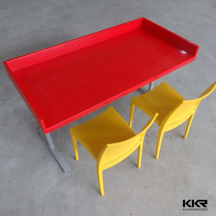 Wholesale resin stone restaurant tables and chairs prices