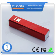 Hot Power Bank with LED Indicator, Rectangular 2600mAh Powerbank