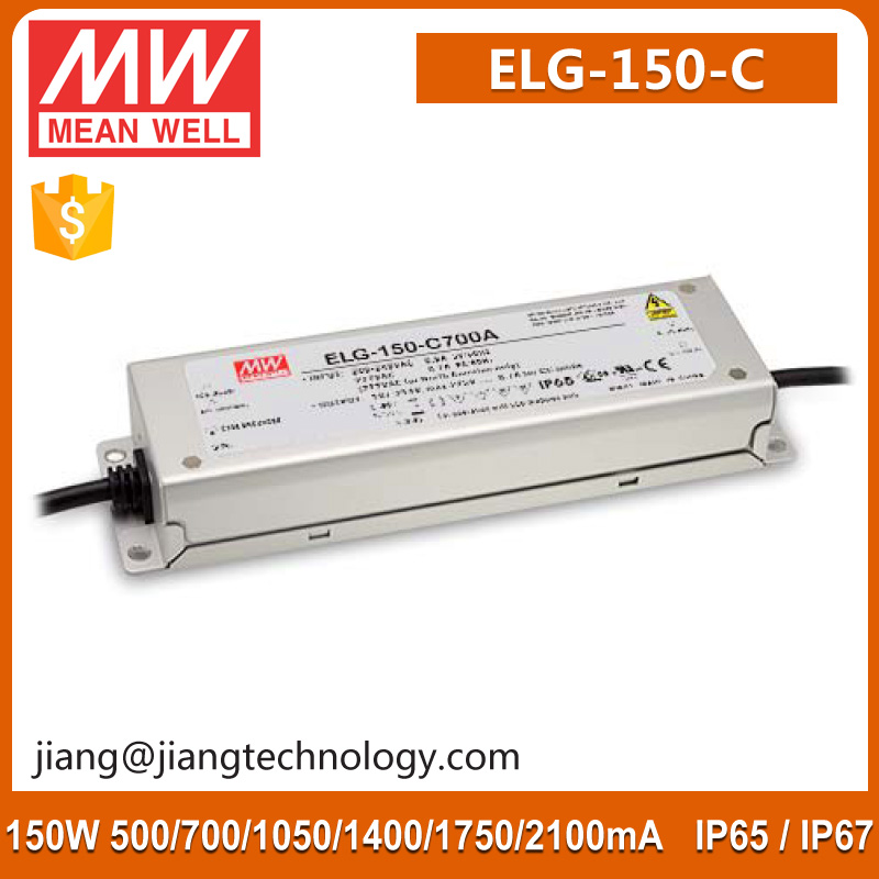 150W 1400mA 54 ~ 107V Constant Current Driver Meanwell ELG-150-C1400D LED Strip Power Supply